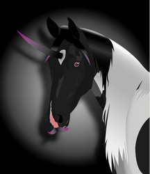 Unicorn with a Mustache by Mirrave