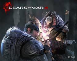 Gears of War 2 Chainsaw Battle by Flip0024