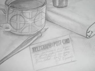 Telegraph Postcard by esillmonday