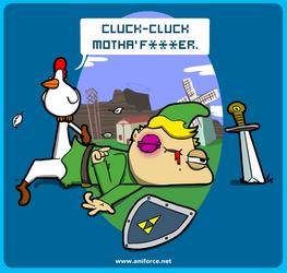 Cluck Cluck Motha' F***er. by Aniforce
