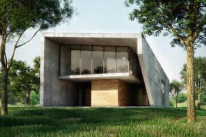 concrete house by evilios