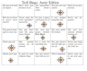 Asexual Bingo by KrazedWriter