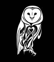 Tribal Barn Owl by CoyoteHills