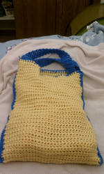 Crochet creations 6: tote bag by unicorn-catcher