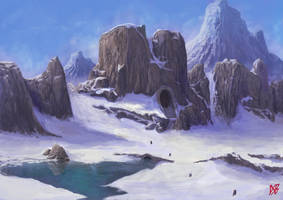 Mountain Portico by DSBlake