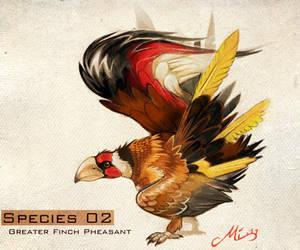 Species 02 - Finch Pheasant by malta