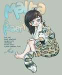 .Girl and her Leopard. by malta