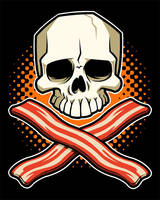 Skull and Crossbacon by Teaessare