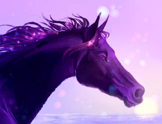 Galaxy Horse by splashamantha
