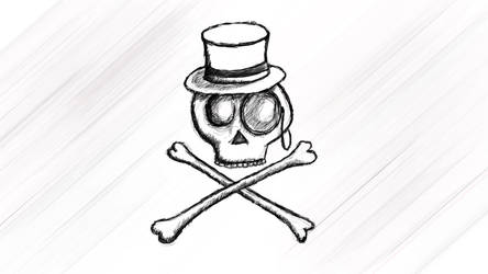 Spiffy Skull by atlasrune