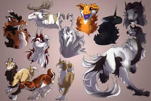 Kuku doodles - Fluffy edition by Sankko