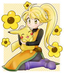 Yellow and Pika by chikorita85