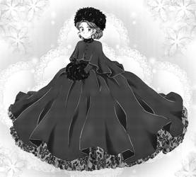 Fluffy hoop dress - Commission by chikorita85