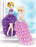 Ana and Celina modern dress - Commission by chikorita85