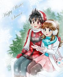 Winter Season- Commission by chikorita85