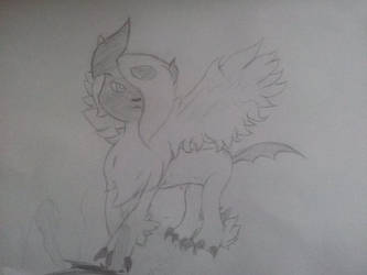 Mega Absol Sketch by PokemonBWishesCilan