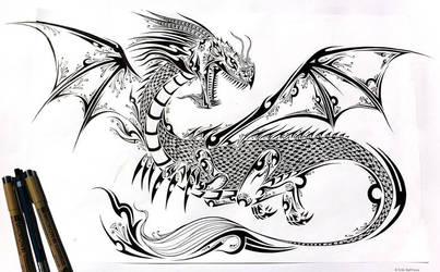 Tattoo Dragon by ErikDePrince