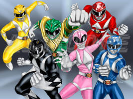Power Rangers-by AJ Moore by GudFit