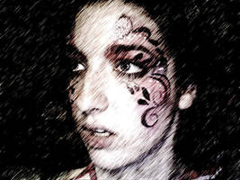 Moody Butterfly Face Paint by lygicaphisalogue