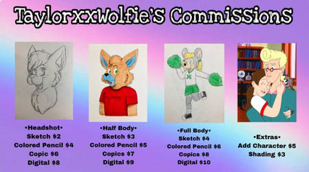 Commission Prices by TaylorxxWolfie