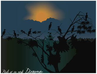 birds of the night by Diamonster