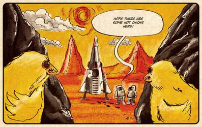 Hot Chicks from Mars by blackaller