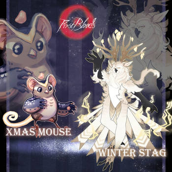 CS Golden Advent - Xmas Mouse and Winter Stag OPEN by PkingSora