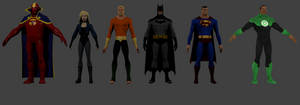 Young justice legacy 3d models by FuncoHD