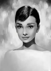 Audrey Hepburn by bluesaga331