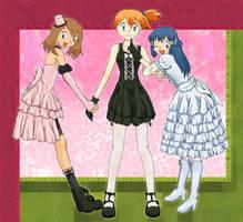 Gothic Lolita Pokemon Girls. by Arisusa