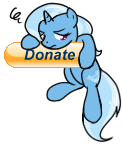 Donation Button - Trixie by TheParagon