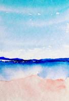 Beach : Summer Sketch by HitomiOsanai