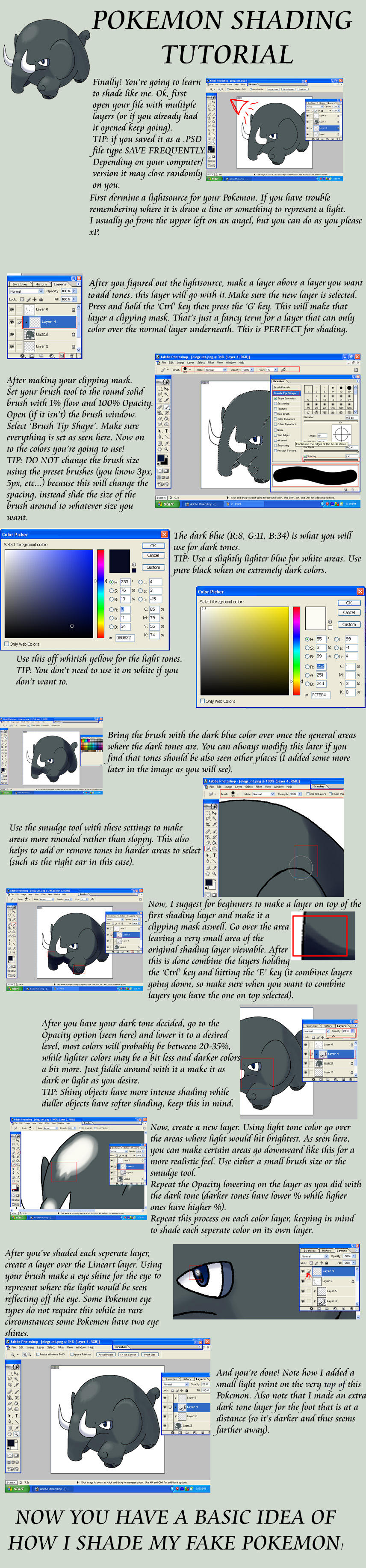 Tutorial 3b: shading by G-FauxPokemon