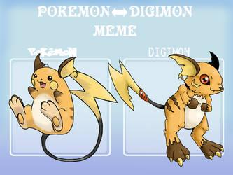 Pokemon digimon meme example by G-FauxPokemon