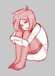 Resting glum-face by WossaRem