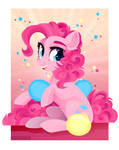 Pinkie Pie and balloons by GLaSTALINKA