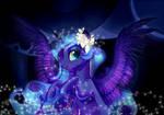 Princess Luna in garlands by GLaSTALINKA