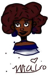 dark skin girl by Mai-Saad