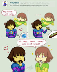 Ask Chara and Frisk #3 -Totally not my favorite... by IrisSonata
