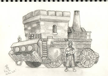 SteamPunk Truck by AnurenWaedor