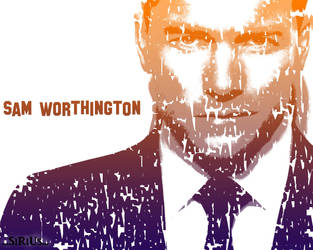 Sam Worthington Wallpaper by andy-maxville