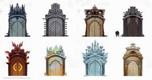 fantasy district gates by Chenthooran