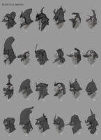 Samurai Orc Helmets by Chenthooran