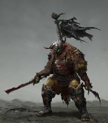 Samurai Orc by Chenthooran