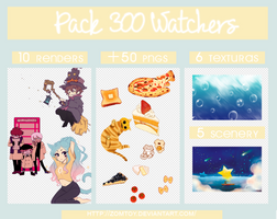 Pack 300 Watchers by ZomToy