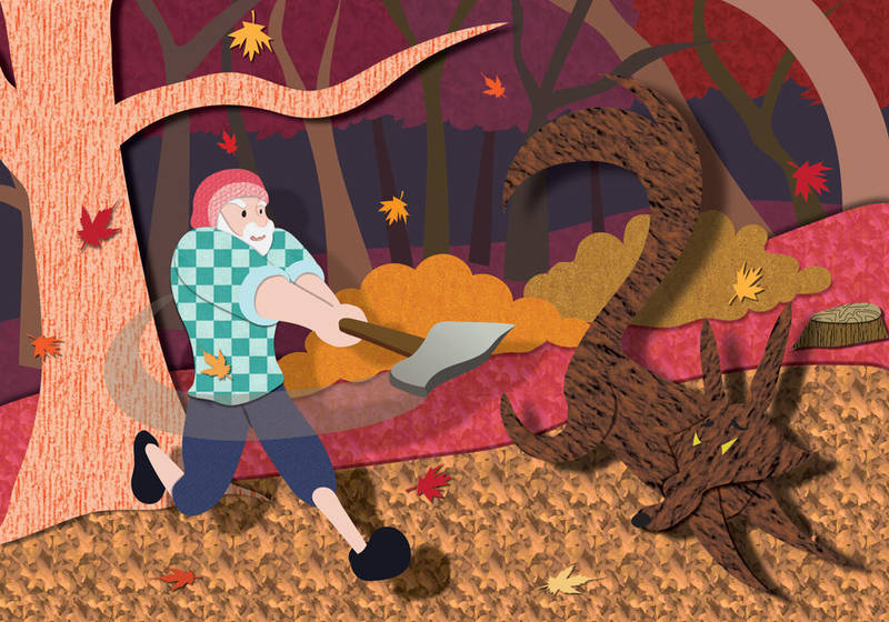 Little Red Riding Hood - Autumn by christina-masci-art