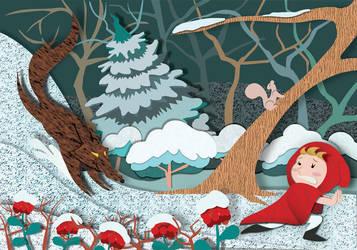 Little Red Riding Hood - Winter by christina-masci-art