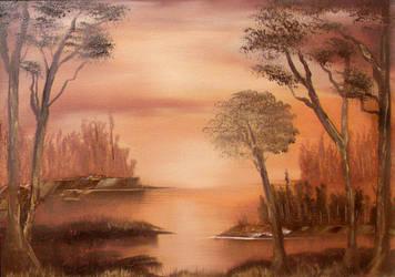Sunset River by Natan-Estivallet