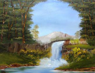 December Waterfall by Natan Estivallet by Natan-Estivallet