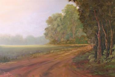 Landscape painting by Natan Estivallet by Natan-Estivallet